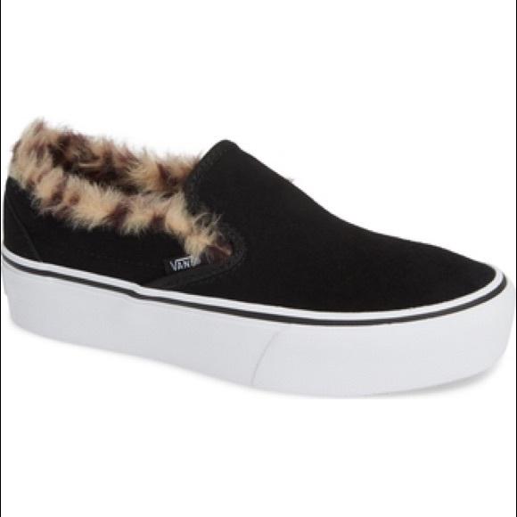 Vans Shoes | Vans Faux Fur Platform